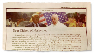 Photo of Iklan di The Tennessean: Islam akan Meledakan Nuklir di Nashville